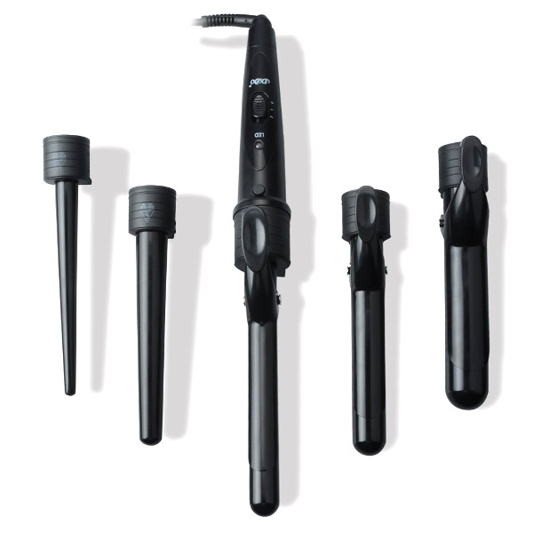 The McDou Satin Wave 5-in-1 Curling Iron and Wand Set